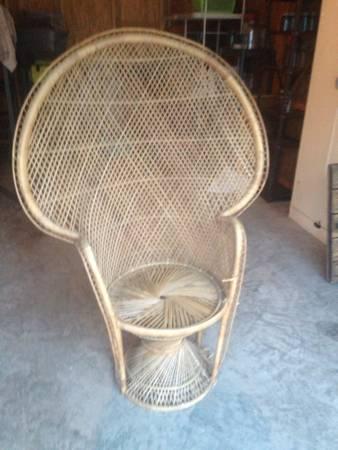Vintage Peacock Chair     $45     View on Craigslist