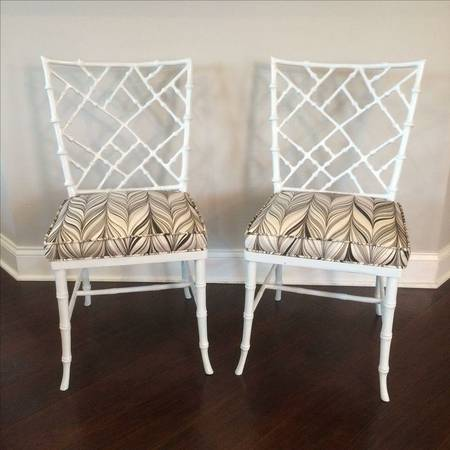 Pair of Phyllis Morris Chairs     $400   I love these faux bamboo chairs - they would be perfect accent chairs in any room of your house!    View on Craigslist