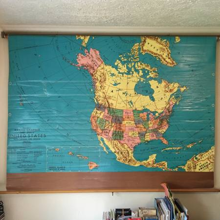 Vintage USA School Map     $80     View on Craigslist