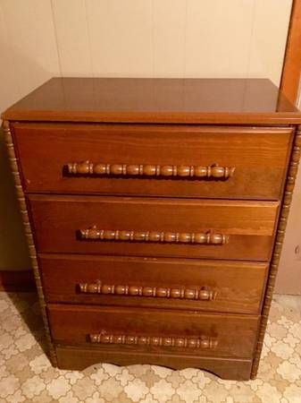 Small Chest of Drawers $50 This would look great painted! View on Craigslist