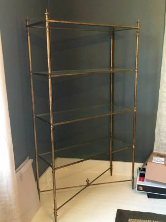 Gold Etagere     $250     View on Craigslist