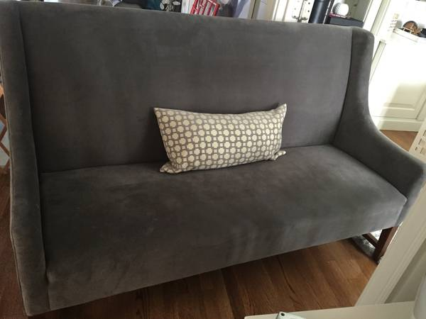 Gray Loveseat $250 View on Craigslist