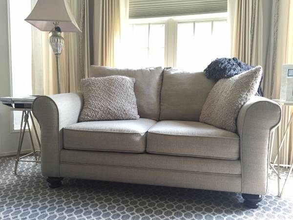 Neutral Loveseat $350 View on Craigslist