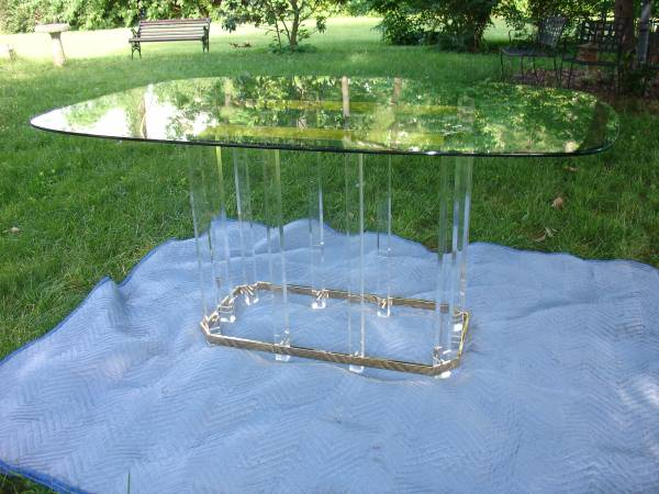 Vintage Brass and Acrylic Table     $890     View on Craigslist