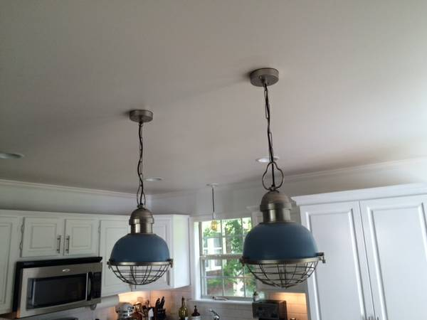 Pair of Industrial Pendant Lights     $100     View on Craigslist