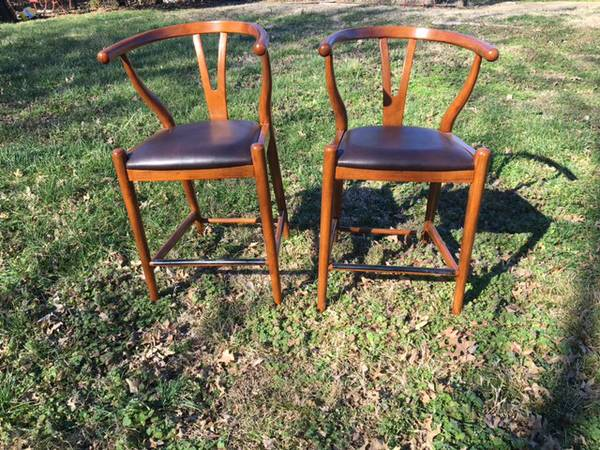 Pair of Wishbone Counter Height Stools $200 These stools retail for $219 each on Overstock. View on Craigslist