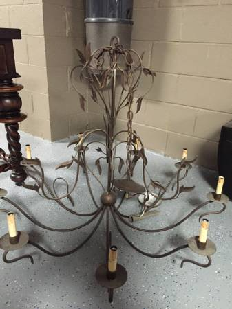 Pewter Leaf Chandelier     $150     View on Craigslist