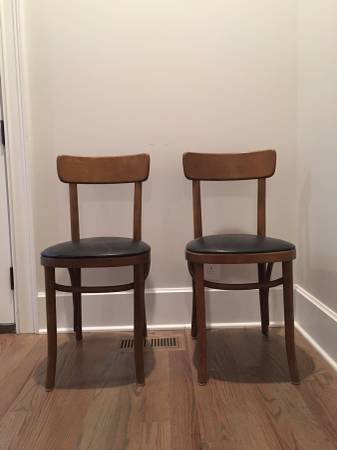 Pair of Vintage Thonet Chairs $100 View on Craigslist