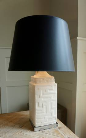 Ivory Geometric Lamp     $30     View on Craigslist