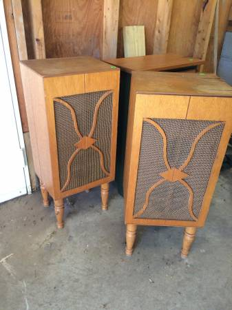 Pair of 1960s Speakers $10 These are great project pieces! View on Craigslist