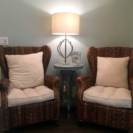 Pair of Seagrass Chairs $275 View on Craigslist