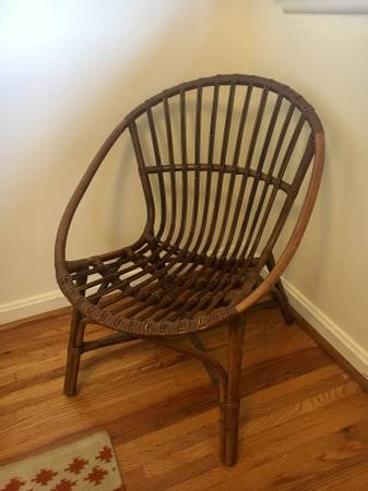 Rattan Chair     $50     View on Craigslist