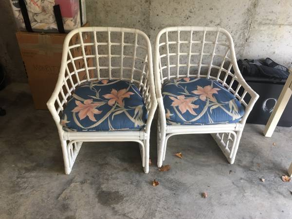 Pair of Rattan Chairs     $50     View on Craigslist