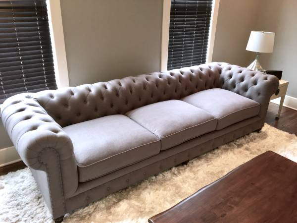 "Chesterfield Sofa     $1200   This is a new 118"" sofa.    View on Craigslist"