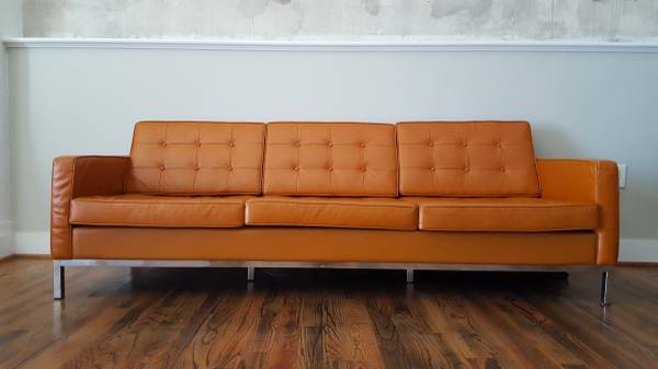 Mid-Century Style Leather Sofa     $1000     View on Craigslist