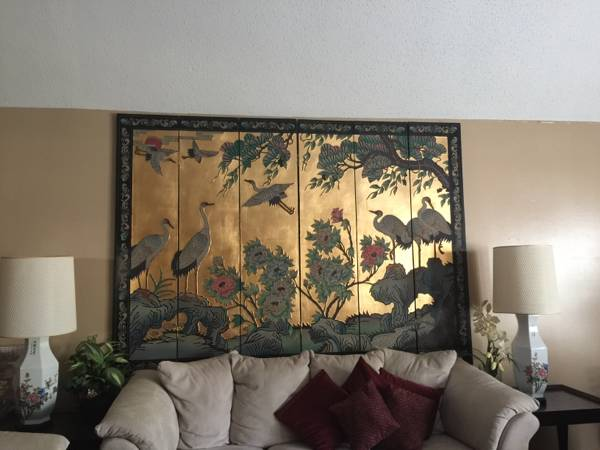 Decorative Screen $200 This would be a gorgeous headboard. View on Craigslist