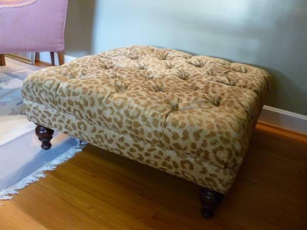 Leopard Ottoman     $100     View on Craigslist