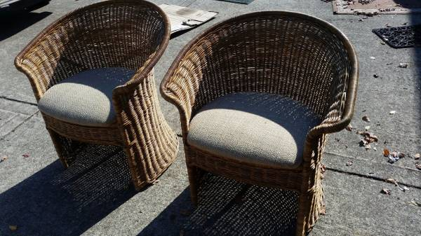 Pair of Wicker Chairs $60 View on Craigslist