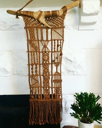 Vintage Macrame Wall Hanging $65 View on Craigslist
