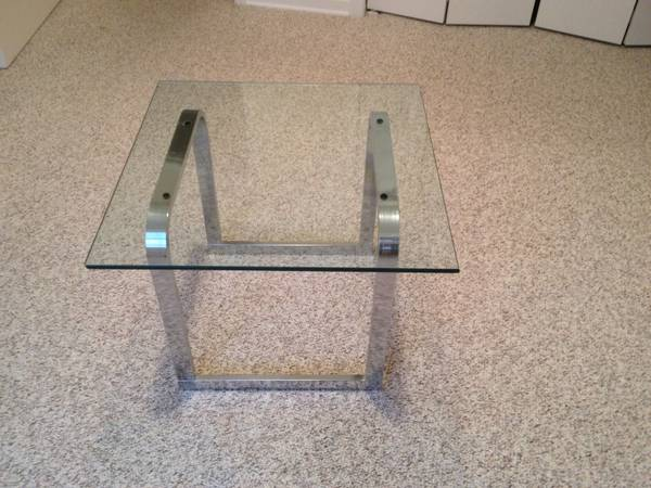 Chrome End Table     $30     View on Craigslist