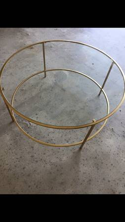 Gold Coffee Table $50 View on Craigslist