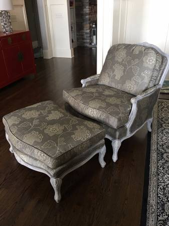 Ethan Allen Chair and Ottoman     $350     View on Craigslist