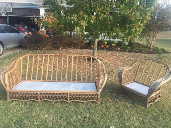 Rattan Patio Furniture $50 View on Craigslist