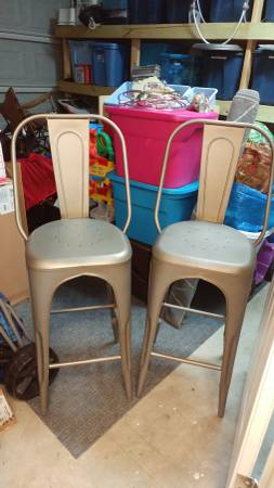 Pair of Restoration Hardware Stools $250 View on Craigslist