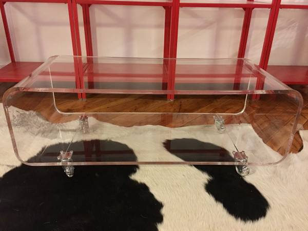 Acrylic Coffee Table $200 View on Craigslist
