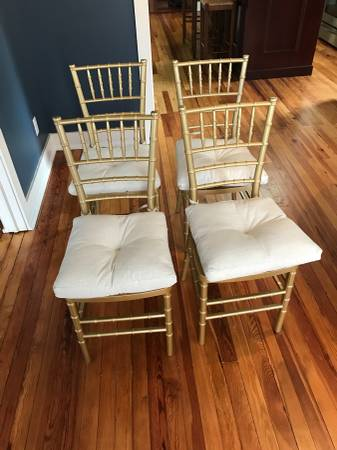 Set of Gold Chiavari Chairs $80 View on Craigslist