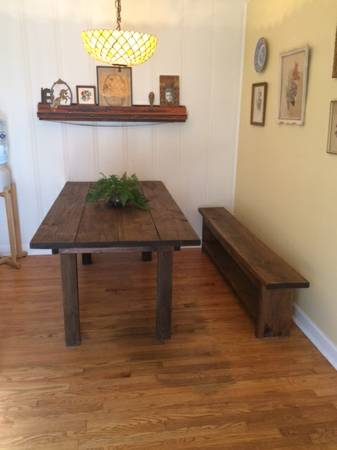 Table and Bench     $100     View on Craigslist