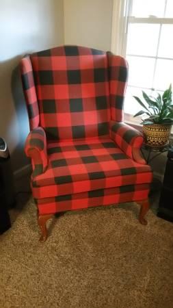 Buffalo Check Chair $90 View on Craigslist