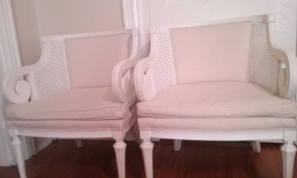 Pair of Vintage Cane Chairs $100 View on Craigslist
