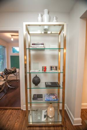 Brass and Glass Etagere     $125     View on Craigslist