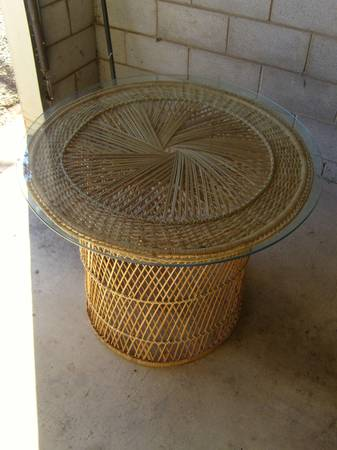 Wicker Table $50 View on Craigslist