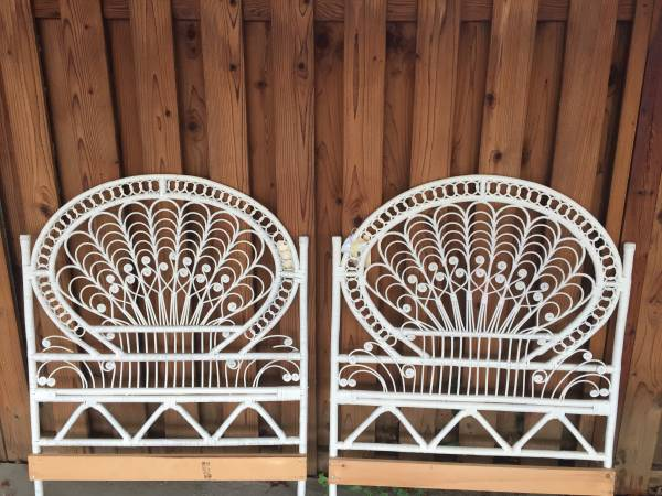 Twin Wicker Headboards     $35 each   These would be adorable in a girl's room!    View on Craigslist