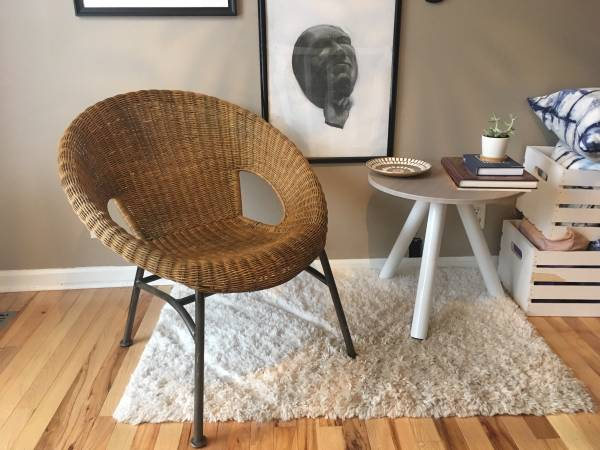 Modern Wicker Chair     $50     View on Craigslist
