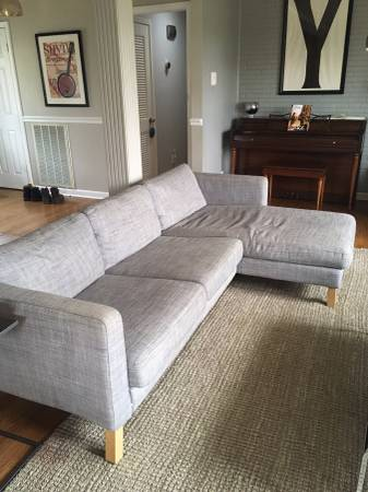 Ikea Sofa     $75   This needs one of the legs fixed but for $75 it is a good deal.    View on Craigslist