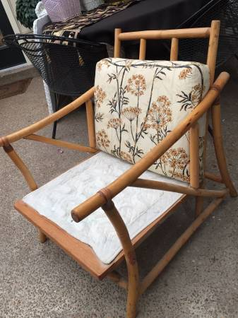 Vintage Bamboo/Rattan Chair $15 This chair is a great deal, it just needs a new cushions. View on Craigslist