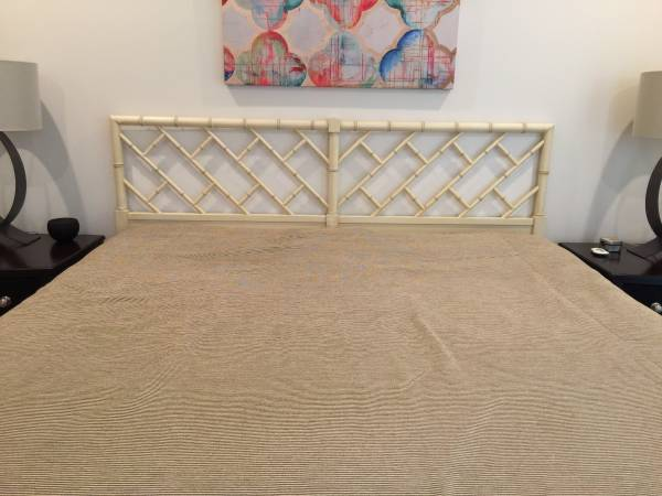 King Bamboo Headboard $150 View on Craigslist