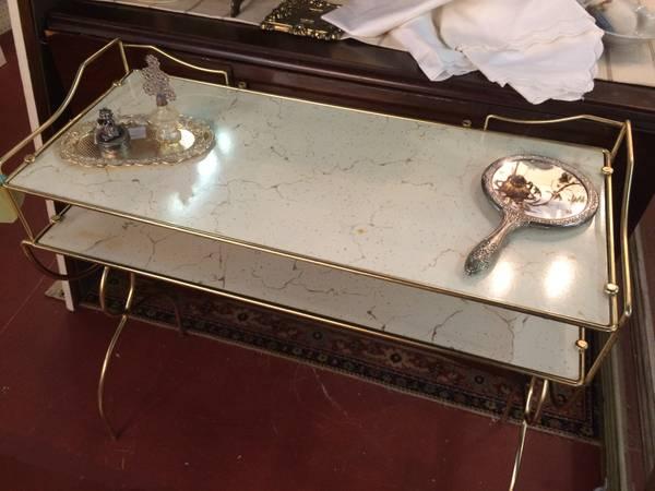 Mid-Century Brass Vanity     $38     View on Craigslist