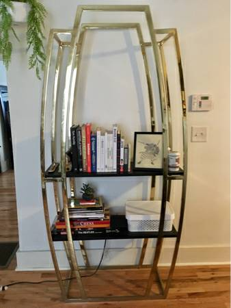 Gold Bookshelf     $150     View on Craigslist