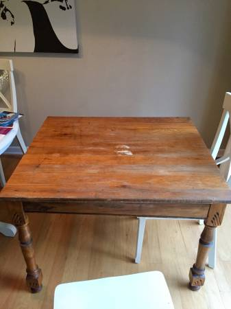 Antique Table     $60     View on Craigslist