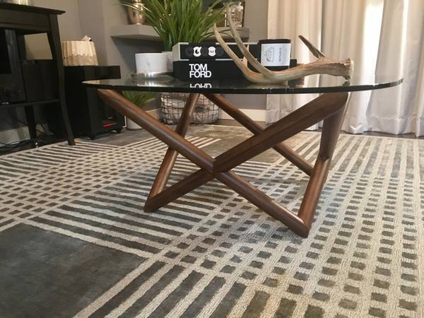 West Elm Spindle Coffee Table $200 View on Craigslist