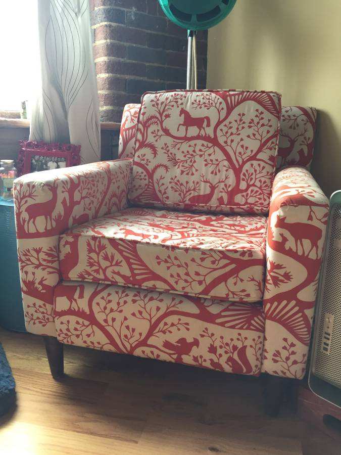Red and White Print Chair     $150     View on Craigslist