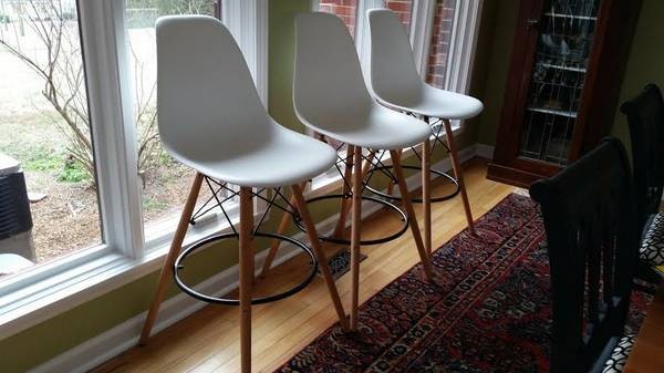 Set of 3 Eames Style Stools $225 View on Craigslist