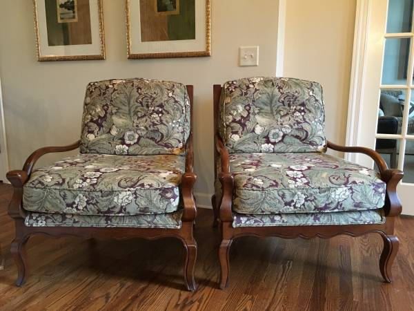 Pair of French Style Sherrill Chairs     $600     View on Craigslist