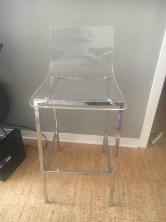 CB2 Acrylic Bar Stools (3) $75 each View on Craigslist