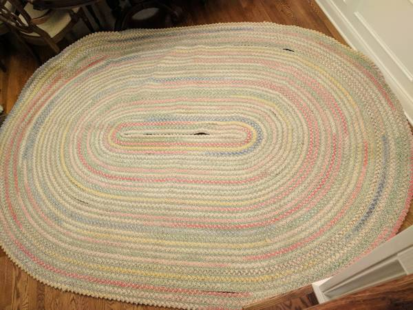 Large Braided Rug $50 This rug just needs to be stitched back together in a few spots.  View on Craigslist