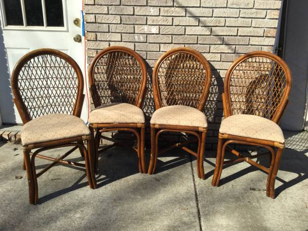 Set of Rattan Chairs $50 View on Craigslist